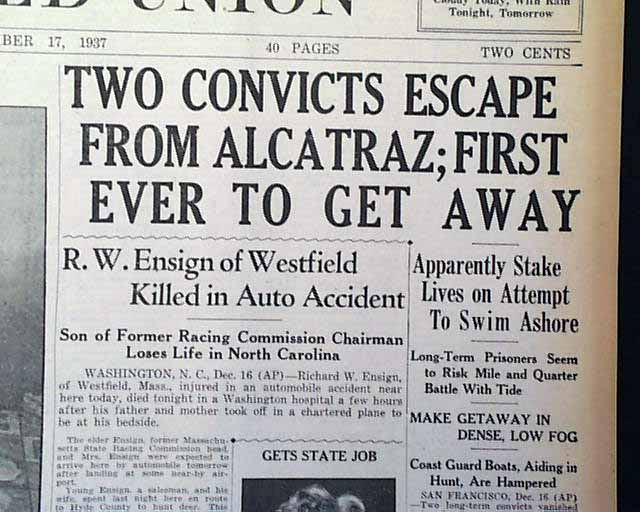 escape from alcatraz essays